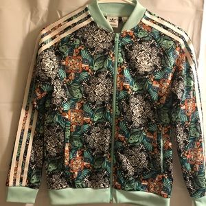 Adidas floral youth jacket